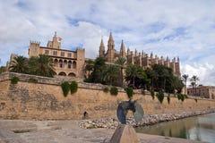 Cathedral La Seu in Palma de Mallorca. Spain Stock Images