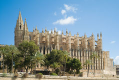 Cathedral La Seu in Palma de Mallorca royalty free stock images