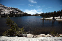 Cathedral Lakes, Yosemite National Park. Cathedral Lakes are a few of the many features carved by glacial activity in Yosemite National Park Stock Photography