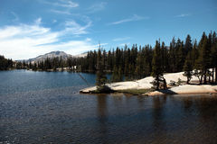 Cathedral Lakes, Yosemite National Park. Cathedral Lakes are a few of the many features carved by glacial activity in Yosemite National Park Stock Photos