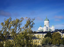 Cathedral landmark and central helsinki view in finland Stock Photography