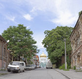 Cathedral Lane in the city of Rostov-on-Don Stock Image