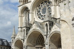Cathedral of Laon Stock Images