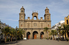 Cathedral in Las Palmas Royalty Free Stock Images