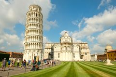 The Cathedral and the Leaning Tower in the city of Pisa, Italy Royalty Free Stock Images