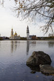 Cathedral and Leaning Tower of Nevyansk Royalty Free Stock Photos