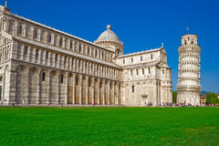 Cathedral and leaning tower of Pisa Stock Image