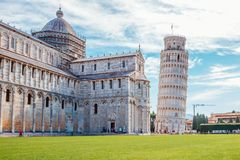 Cathedral and Leaning Tower of Pisa in Italy