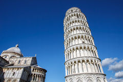 Cathedral and Leaning Tower of Pisa, Italy Royalty Free Stock Images