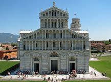 Cathedral and the leaning tower of Pisa in Piazza dei Miracoli 1 Stock Image