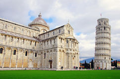 Cathedral and Leaning tower in Pisa Royalty Free Stock Images