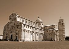 Cathedral and the leaning tower of Pisa in Piazza dei Miracoli s Stock Image
