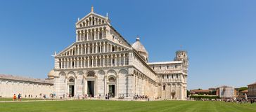 Cathedral with leaning tower of Pisa royalty free stock image
