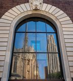 Cathedral of Learning and Heinz Chapel at the University of Pittsburgh stock image