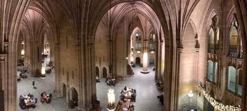Cathedral of Learning, PITTSBURGH, PENNYSLVANIA, USA. PITTSBURGH, PENNYSLVANIA - November, 2018: The interior of the Cathedral of Learning. The historic landmark stock photos
