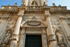 Cathedral of lecce Stock Photography