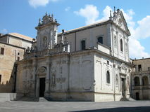 Cathedral in Lecce, Italy royalty free stock images
