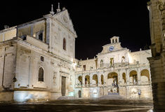 Cathedral of Lecce, masterpiece of baroque art in Salento, Italy Royalty Free Stock Photography