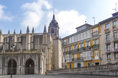 Cathedral in Lekeitio. Royalty Free Stock Photography