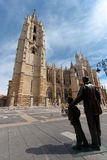 Cathedral of Leon Stock Photography