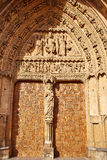 Cathedral of Leon in Castilla at Spain Royalty Free Stock Photos