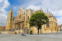 Cathedral of Leon Royalty Free Stock Photos