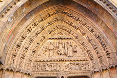 Cathedral of Leon gothic arch in Castilla Spain Royalty Free Stock Photo