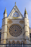 Cathedral of Leon rose window Royalty Free Stock Image