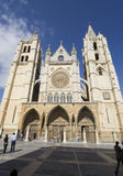 Cathedral in leon spain. Facade of cathedral in leon spain Royalty Free Stock Image