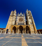 Cathedral of Leon, Spain. Gothic cathedral of Leon, Castilla Leon, Spain Royalty Free Stock Photo