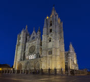 Cathedral of Leon (Spain) Royalty Free Stock Image