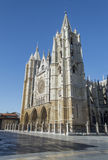 Cathedral of Leon, Spain. Gothic cathedral of Leon, Castilla Leon, Spain Royalty Free Stock Image