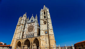Cathedral of Leon, Spain Stock Images