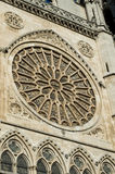 Cathedral of Leon, Spain. Rose windows of gothic cathedral of Leon, Castilla Leon, Spain Royalty Free Stock Images