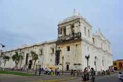 Cathedral of Leon, an UNESCO Heritage Centre in Nicaragua stock photos
