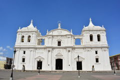 Cathedral of Leon, an UNESCO Heritage Centre in Nicaragua. Basílica Catedral de la Asunción de León, most known as Cathedral of Leon, is the greatest stock images
