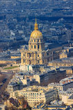 Cathedral Les Invalides with Napoleon's tomb in Paris Royalty Free Stock Image
