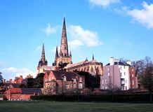 Cathedral, Lichfield, England. Stock Photos