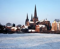 Cathedral, Lichfield, Staffordshire, UK. Stock Photography