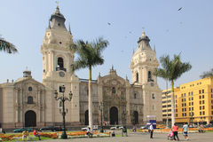 Cathedral of Lima Royalty Free Stock Photo
