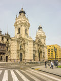 Cathedral of Lima Facade Low Angle View Royalty Free Stock Photos