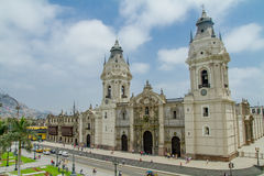 Cathedral of Lima in Peru Stock Photo