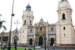 Cathedral of Lima, Peru Royalty Free Stock Photos