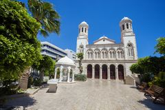Cathedral in Limassol Stock Photography