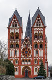 Cathedral of Limburg, Germany. The Catholic Cathedral of Limburg, Germany is high location on a rock above the Lahn river. The building is one of the most royalty free stock photography