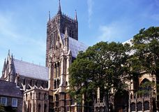 Cathedral, Lincoln, England. Royalty Free Stock Images