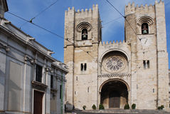 Cathedral of Lisbon. Santa Maria Maior de Lisboa or Se de Lisboa. Cathedral of Lisbon and the oldest church in the city royalty free stock photography