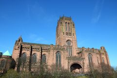 Cathedral in Liverpool. Liverpool - city in Merseyside county of North West England (UK). Liverpool Cathedral Royalty Free Stock Images