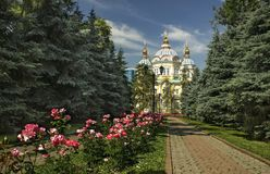 Cathedral. Is located in Almaty, in the park. Kazakhstan Stock Images