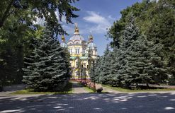 Cathedral. Is located in Almaty, in the park. Kazakhstan Royalty Free Stock Photography